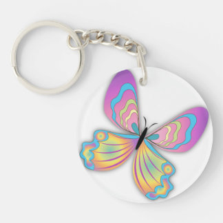 Butterfly Love Keychain
