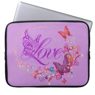 Butterfly love laptop sleeve