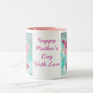 Butterfly Love, Mothers Day Gift... Two-Tone Coffee Mug
