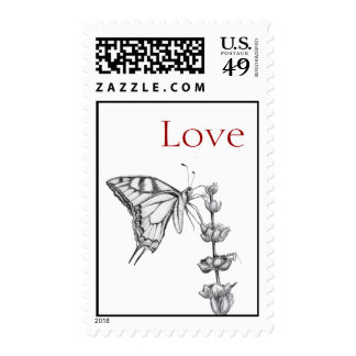 Butterfly Love Postage Stamp