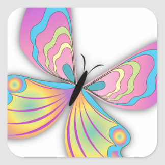 Butterfly Love Square Sticker