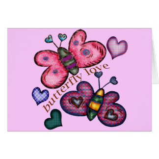 Butterfly Love T-shirts and Gifts For Her Card