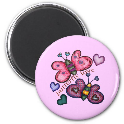 Butterfly Love T-shirts and Gifts For Her Magnet