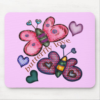 Butterfly Love T-shirts and Gifts For Her Mouse Pad
