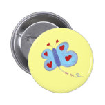 Butterfly Love You Pinback Buttons