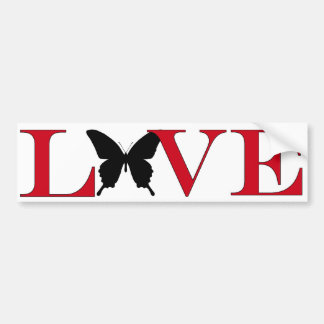 Butterfly Lover Bumpersticker Bumper Sticker