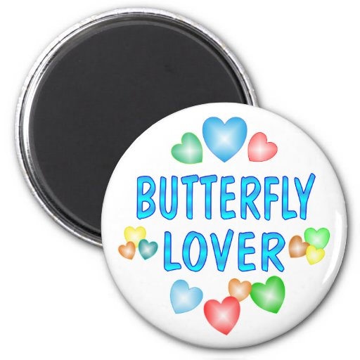 BUTTERFLY LOVER REFRIGERATOR MAGNETS