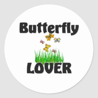 Butterfly Lover Round Stickers
