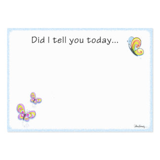 Butterfly Lunch Box Love Note Large Business Cards (Pack Of 100)