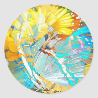 Butterfly Magic Classic Round Sticker
