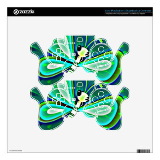 Butterfly Magic PS3 Controller Skin