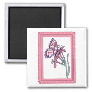 Butterfly Magnet...Wedding Favor 2 Inch Square Magnet