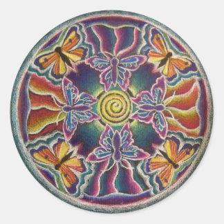 Butterfly Mandala Sticker