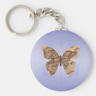 butterfly map keychain