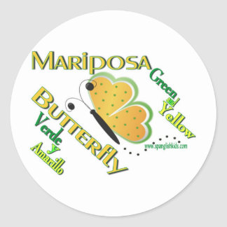 Butterfly/Mariposa-Stickers Classic Round Sticker