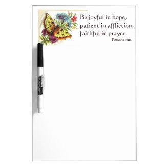 Butterfly marker board with verse