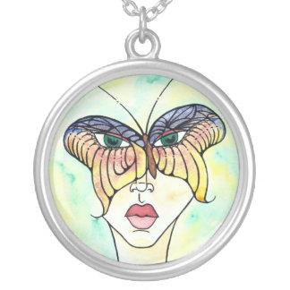 Butterfly Mask Necklace