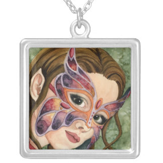Butterfly Masked Fairy Necklace