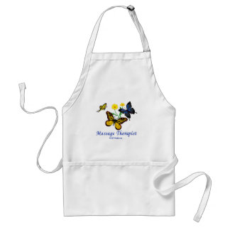 Butterfly Massage Therapist Adult Apron
