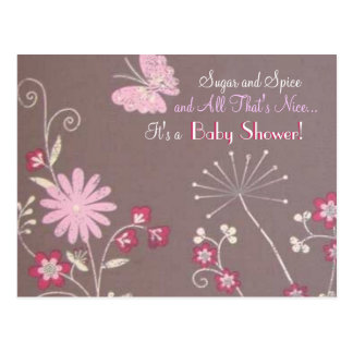Butterfly Meadow Baby Shower Invite Postcard