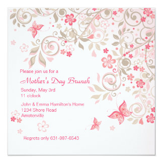 Butterfly Meadow Mother's Day Invitation