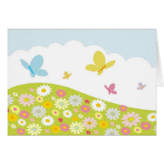 Butterfly Meadow Stationery Note Card