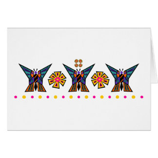 Butterfly Medallion Stripe With Dot Row Card