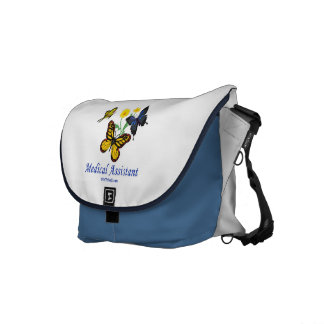 Butterfly Medical Assistant Messenger Bag