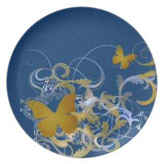 Butterfly Melamine Plate