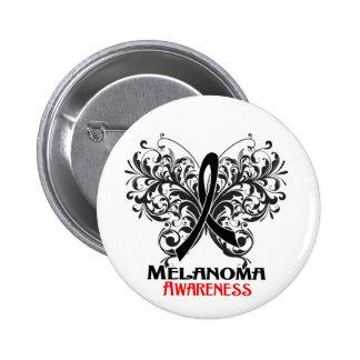 Butterfly Melanoma Awareness Button