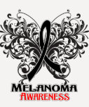 Butterfly Melanoma Awareness Tee Shirt