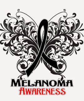 Butterfly Melanoma Awareness Shirts