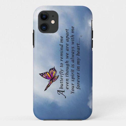 Butterfly Memorial Poem Phone Case
