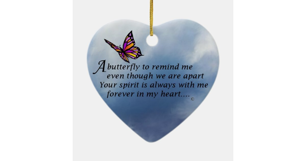 Butterfly Memorial Poem Ceramic Ornament Zazzle