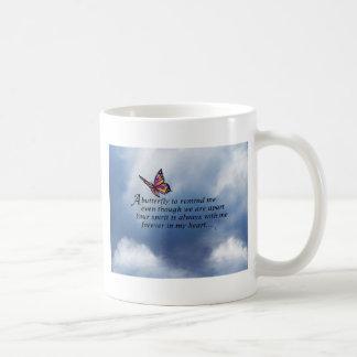 Butterfly Memorial Poem Coffee Mug