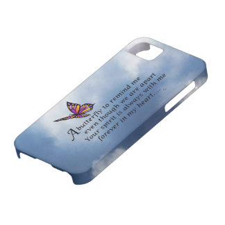 Butterfly Memorial Poem iPhone SE/5/5s Case