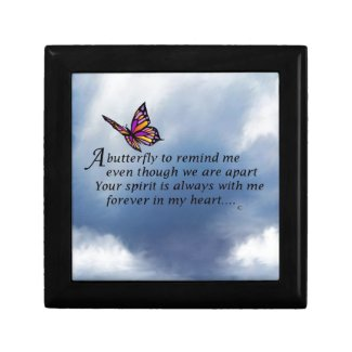 Butterfly Memorial Poem Jewelry Boxes