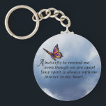 "Butterfly  Memorial Poem Keychain<br><div class=""desc"">Butterfly Memorial Poem Losing a loved one is never easy.. I BELIEVE that our loved ones will send us signs to let us know they are still with us in spirit. &quot;Always In Our Heart&quot; gift store offers a beautiful line of sympathy gifts and memorial keepsakes to keep their memory...</div>"