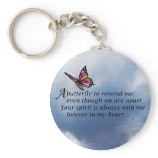 Butterfly  Memorial Poem Keychain