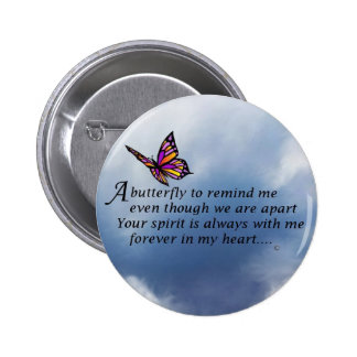 Butterfly  Memorial Poem Pinback Button