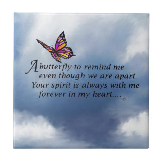 Butterfly Memorial Poem Tile