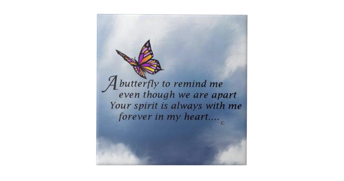 Butterfly Memorial Poem Tile Zazzle Com