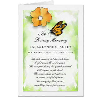 Butterfly Memorial Service Invitation Card
