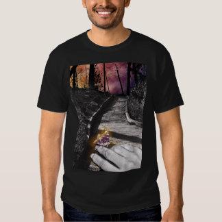 Butterfly messenger T-shirt, black Shirt