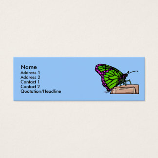 Butterfly Mini Business Card
