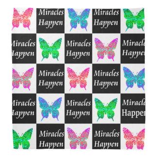 BUTTERFLY MIRACLES HAPPEN DESIGN BANDANA