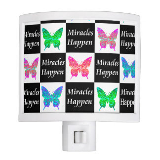 BUTTERFLY MIRACLES HAPPEN DESIGN NIGHT LIGHT