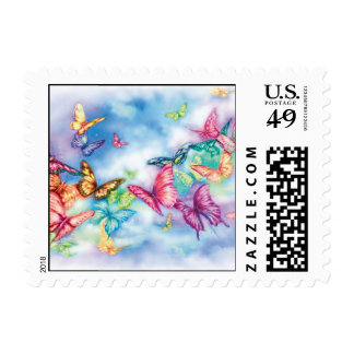 Butterfly Mist Postage Stamp