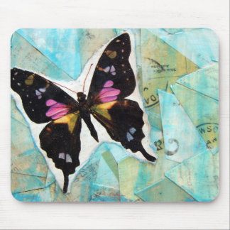 Butterfly Mixed Media Collage Mouse Pads