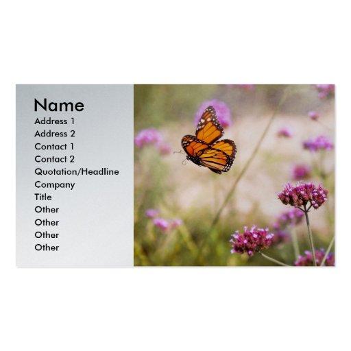 Butterfly - Monarach - The sweet life Business Card Template